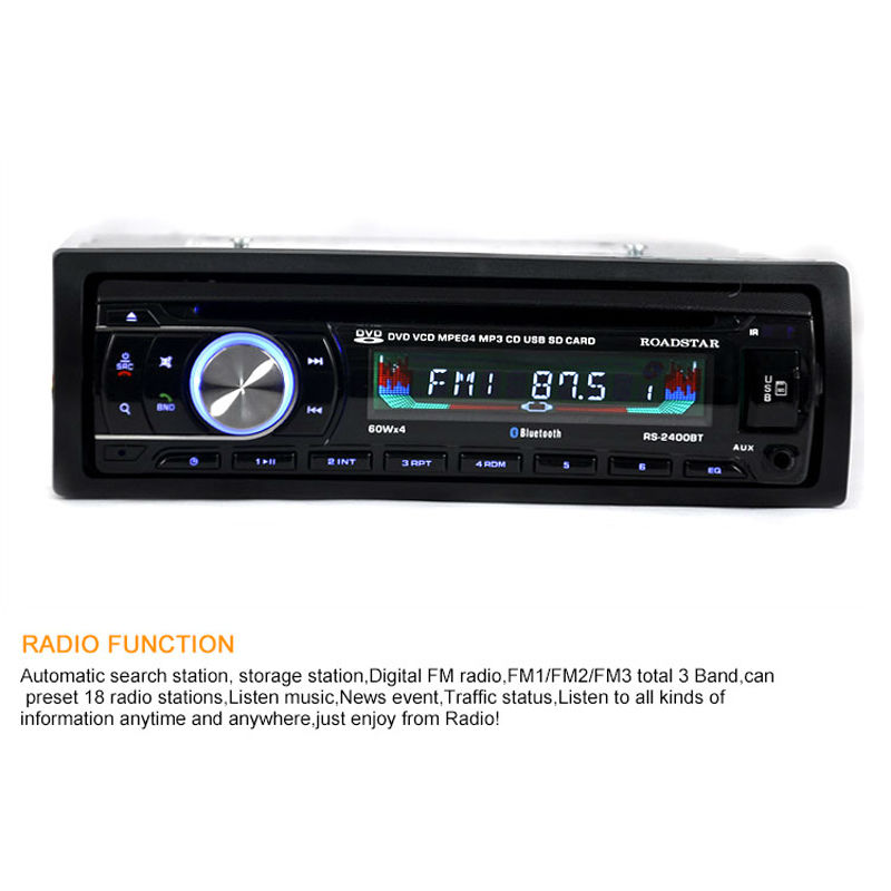 12V 1 DIN Stereo Car DVD Player Auto CD Player Bluetooth Hands Free Calls Wireless Music FM Radio MP3 ID3 SD MMC USB Charger-in Car Radios from Automobiles ...  sc 1 st  AliExpress.com & 12V 1 DIN Stereo Car DVD Player Auto CD Player Bluetooth Hands Free ...