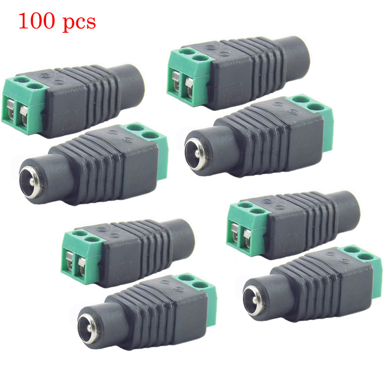 Gakaki 100Pcs/Lot Dc Female Adapter Jack Connector Cctv Accessories Surveillance System Cctv Power Supply Cctv Camera System