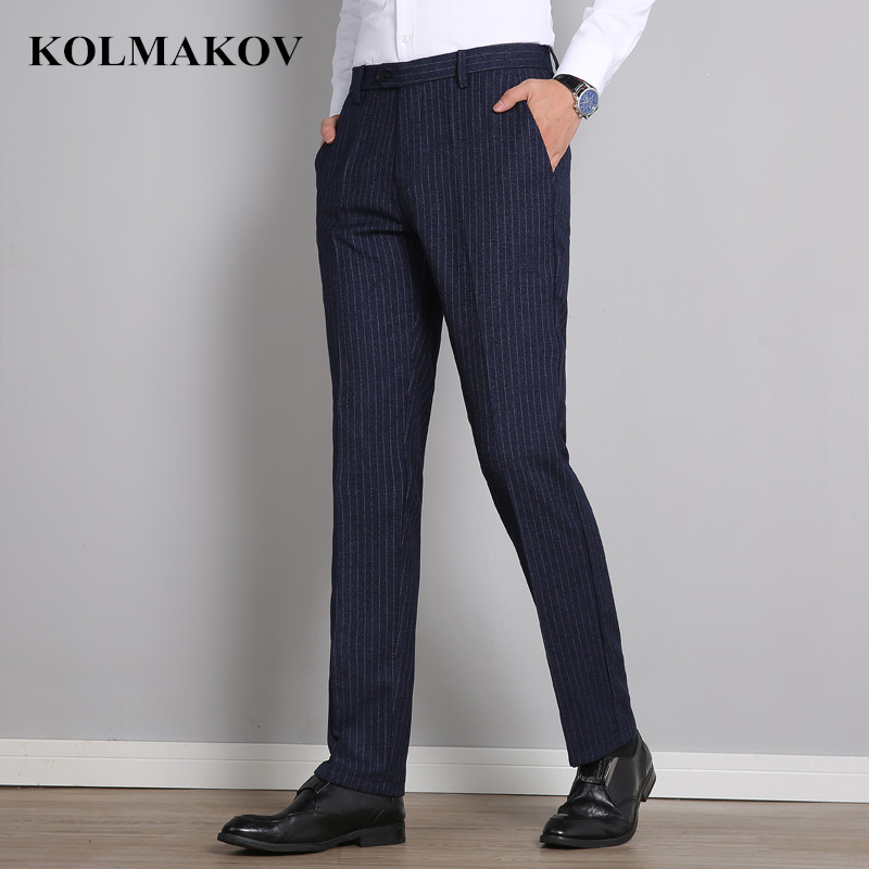 KOLMAKOV New 2019 Men's Suit Pants Business Formal Pants For Men Suit Trousers For Wedding High Quality Classic Straight Pants