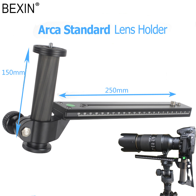 Camera Release Tripod Plate Telephoto Lens Support Quick Release Plate For Dslr Camera With Arca Swiss Plate Carbon Fiber Pillar