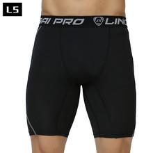 LINGSAI Neueste fitness männer kurzarm shorts männer thermische muscle bodybuilding kompression strumpfhosen