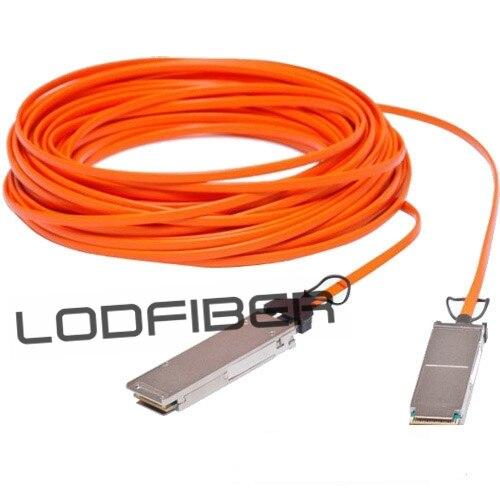 25m (82ft) Brocade 40G-QSFP-QSFP-AOC-2501 Compatible 40G QSFP+ Active Optical Cable25m (82ft) Brocade 40G-QSFP-QSFP-AOC-2501 Compatible 40G QSFP+ Active Optical Cable