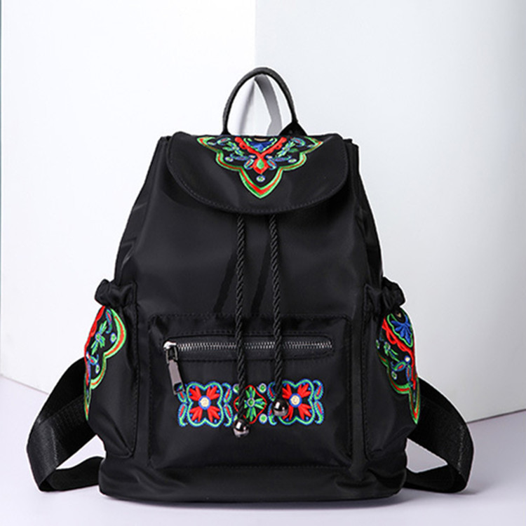 Chinese Style National Women Embroidered Backpack Butterfly Bag Female Nylon Vintage Bac ...