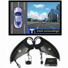 360 градусов Bird View Видеорегистраторы для автомобилей запись с парковки Мониторы Системы, все Круглый заднего вида Камера для Audi Q5 Q7 Q3 A6L A4L