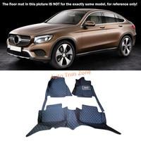 Black Interior Floor Mats & Carpet Foot Pad For Mercedes Benz GLC 2016 2017 X253