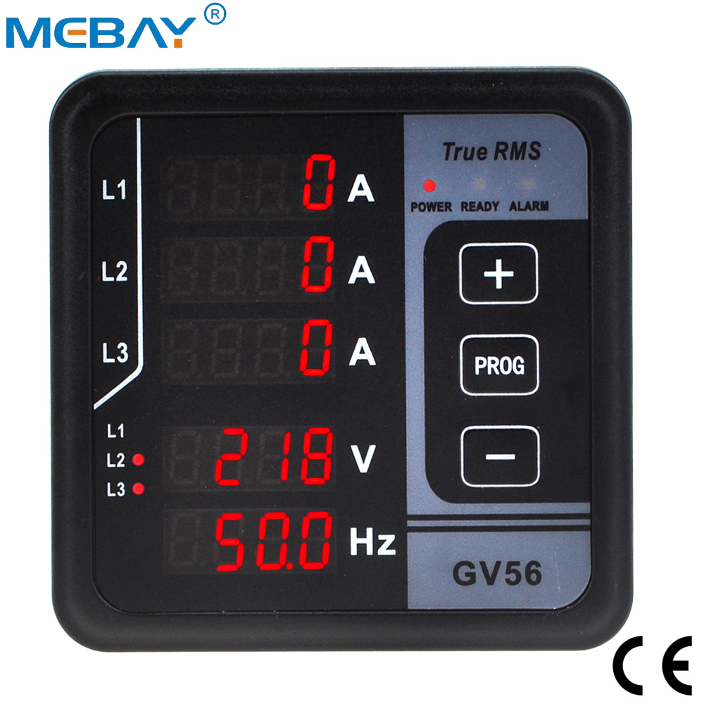 GV56 Digital Multi-functional Meter Current&Voltage Test For Three-phase Generator Free Shipping 12001794