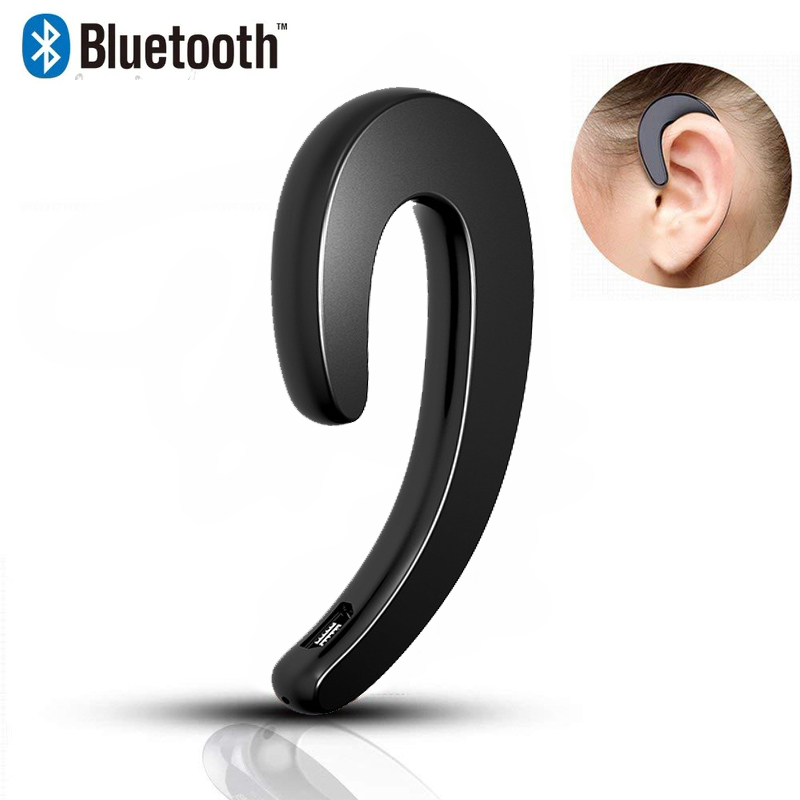 Wireless Headphone Bluetooth Earphone Ear Hook Painless Headset For iPhone Xiaomi Samsung Bone Conduction Earphone Bluetooth magnetic attraction bluetooth earphone headset waterproof sports 4.2