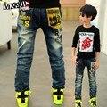 Высокое качество 2015 новая коллекция весна дети брюки мальчиков джинсы детей для мальчиков случайные джинсовые брюки 3-12Y малыша модной одежды