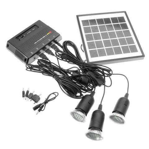 energia solar ao ar livre conduziu a lampada de iluminacao sistema painel solar casa sistema