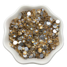 Good Quality Golden shadow  DIY Strass Crystal ss3-ss34 Non HotFix Nail Art Flatback Rhinestones for Clothes Decorations
