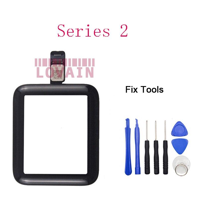 1 pièces écran tactile Pour Apple Montre Série 2 3 38mm 42mm modèle (Testé) digitizer Écran Tactile Avant écran en verre + Outils