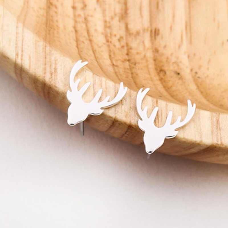 חדש הגעה אופנה צבי Stud עגילים לנשים מסיבת חג מולד מתנת בעלי החיים עגילי boucle d'oreille femme 2018 brinco