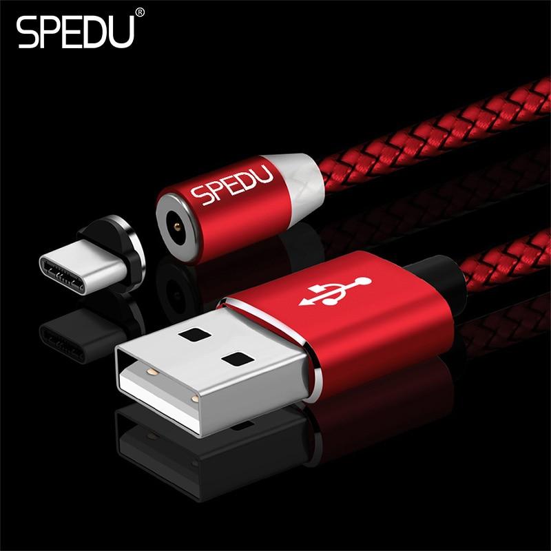 SPEDU magnetische usb typ c Kabel datenkabel Handy-ladegerät Für huawei Taube 10 pro P20 P10 P9 honor 9 oneplus 5 5 t 3 t Usb Typ C