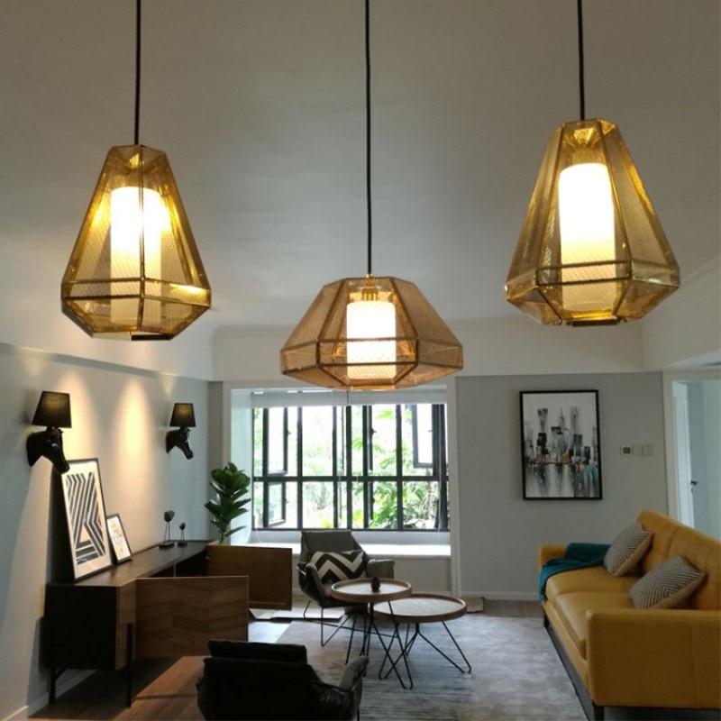 Europe Style Postmodern Concise Creative Diamond Pendant Lamp Restaurant Aisle Parlor Bedroom Bar Decoration Lamp Free Shipping все цены