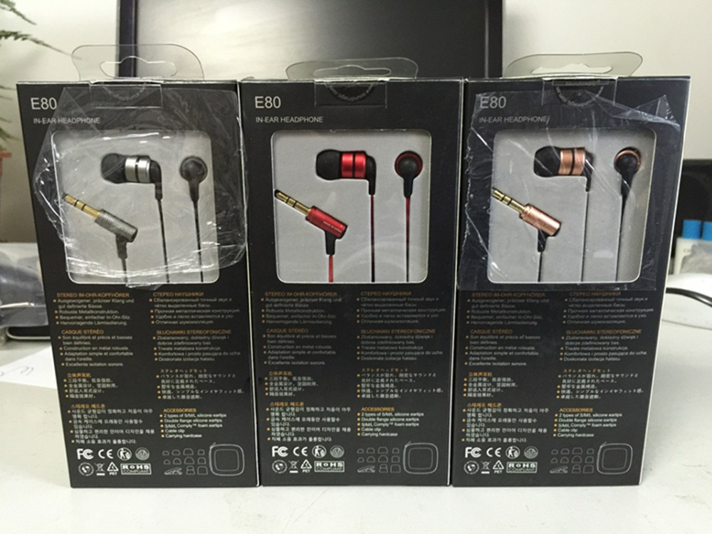 Soundmagic E80 HiFi In Ear earphones Super bass Perfect Sound earbuds full metal earphones Strong Bass Clear Voice