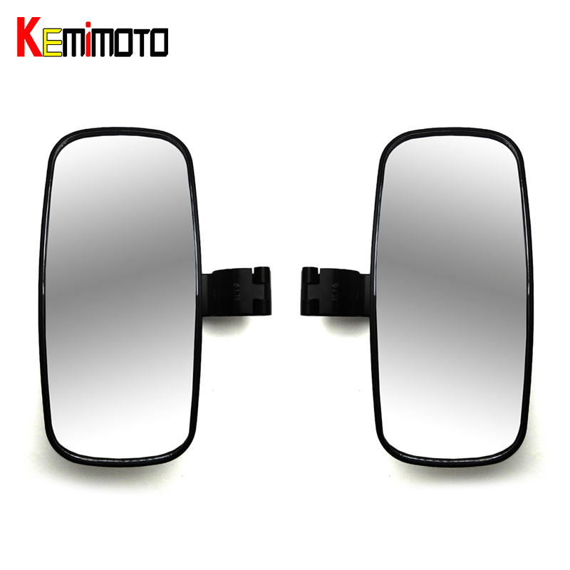 KEMiMOTO 2 pcs For Can Am Maverick 2 Cage Side View Mirrors Rearview for POLARIS RZR XP 4 900 1000 for John Deer For Yamaha