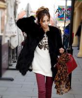 2016 new women's Korean Short fox fur raccoon fur coat