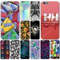 Italy marca de luxo Flores Helly Hansen Durex Tampa do Caso Duro Transparente para iphone 4 4s 5 5s se 5c 6 6 s 7 7 plus