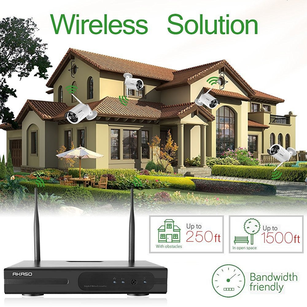 medium resolution of akaso 4ch 960p hd wifi security camera system wireless video surveillance cctv ip camera equipment with 1280x960p night vision in surveillance cameras from