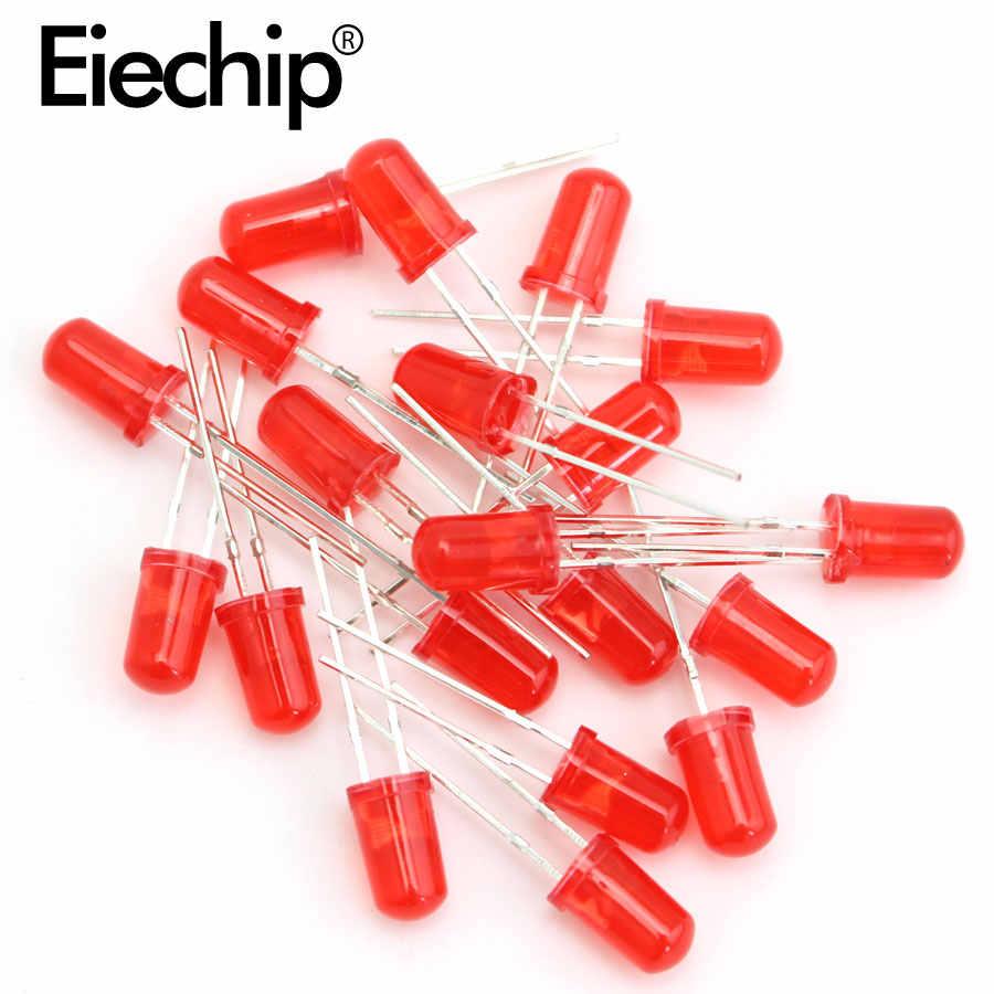 100 Uds F5 5MM diodo de luz Led rojo/amarillo/azul/blanco/Verde Led set de diodos surtidos 5mm Led conjunto electrónico emisor de luz diy