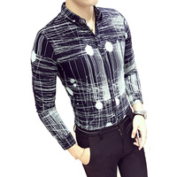 2017 Spring Autumn Features Shirts Men Casual Shirt New Arrival Long Sleeve Casual Slim Fit Tops