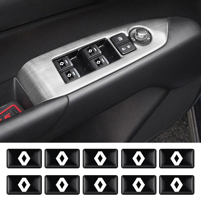 Автомобильный Стайлинг Эмблема автомобиля значок Сделай Сам наклейки на машину для Renault 2 кнопки Clio Scenic Megane Duster Sandero Captur Twingo аксессуары