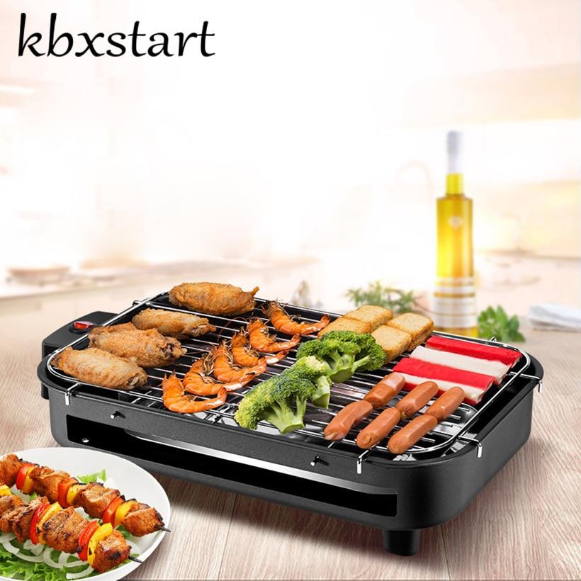 Kbxstart Portable Smokeless Electric Grill Hot Dog Churrasqueira Eletrica Korean Rotisserie Rotating Barbecue Motor Equipments