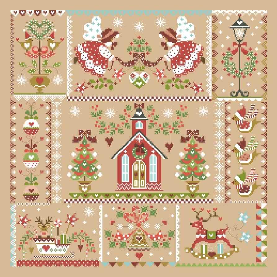 عيد الميلاد فتاة عبر الابره عدة بسيطة الكرتون تصميم القطن الحرير الموضوع 14ct 11ct الكتان الكتان الكتان التطريز لتقوم بها بنفسك الإبرة