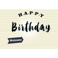 Laeacco Welcome Happy Baby Birthday Party Child Poster Portrait Photo Backdrops Photocall Photographic Backgrounds Studio