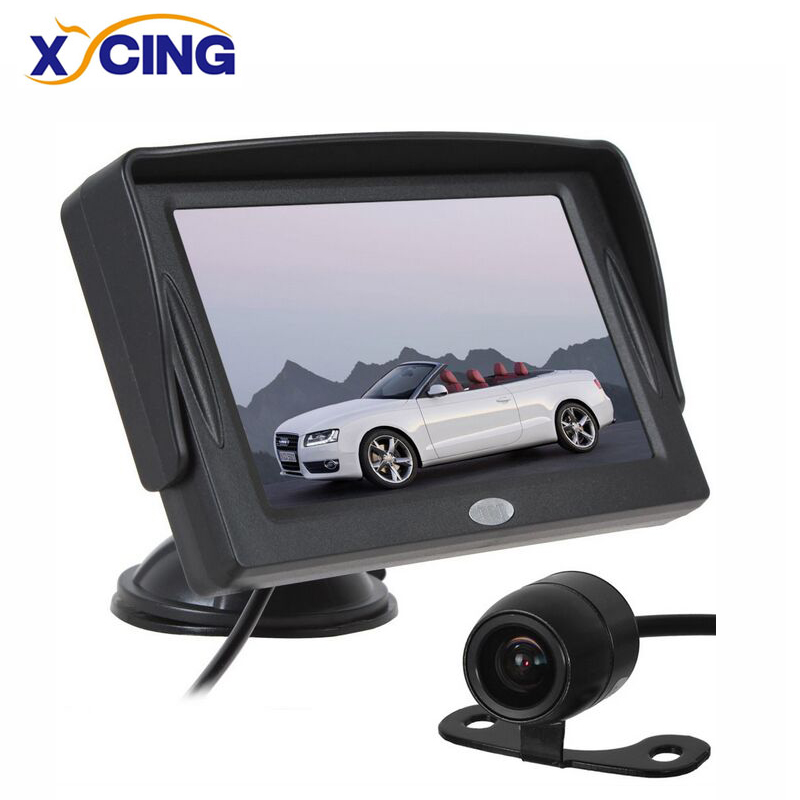 XYCING 4.3 inchi color TFT LCD monitor de masina parcare vedere din spate Monitor + 18mm CMOS auto masina spate Reverse Backup Camera