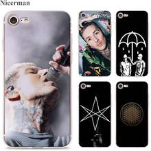Para A Apple iPhone 8 7 6s Plus SE 5S X XR XS MAX TPU Silicone Macio Claro tampa Transparente oliver Sykes Bring Me the Horizon bmth(China)