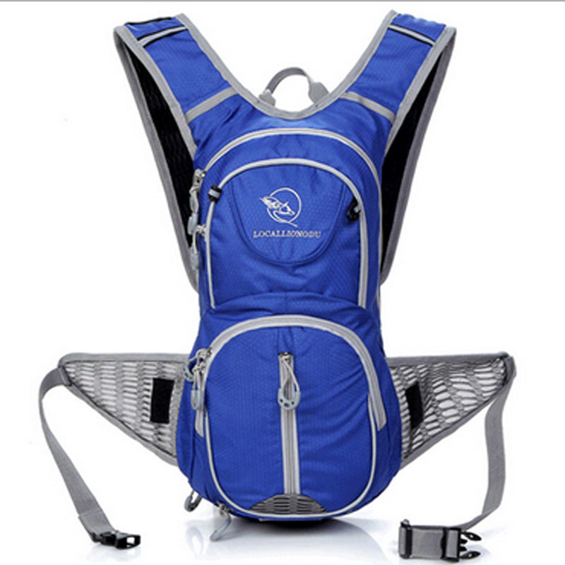 12L Cycling Backpack Waterproof Running Bag Sport Bike Backpack with Light