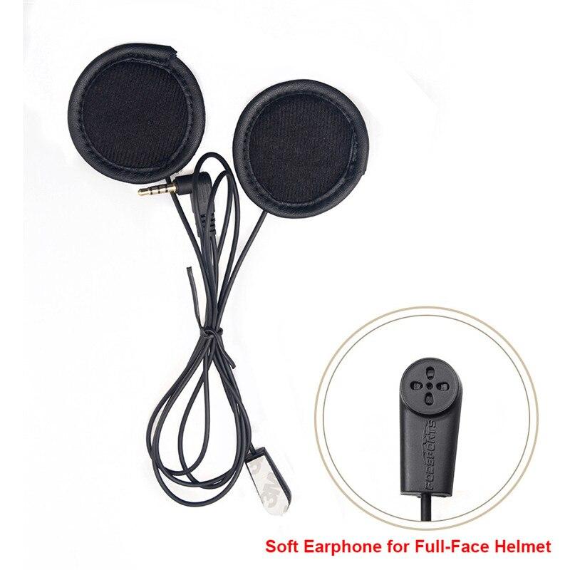 Fodsports Volle-Gesicht Helm Headsets Weichen Draht mit Clip für V4 V6Pro Bluetooth Integral Helm Intercom Kopfhörer 3,5 Jack stecker