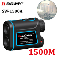 SNDWAY SW 1500A High End Laser Rangefinder Hunting Monocular Telescope 1500M Astronomic Camping Golf Distance Meter