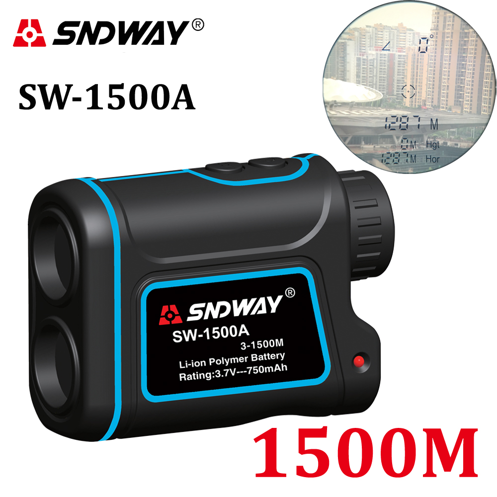 цены SNDWAY laser rangefinder hunting monocular telescope 1500M astronomic golf trena laser meter distance measure speed-Height-angle
