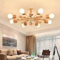 Nordic Pendant Lights For Home Lighting Modern Hanging Lamp Wooden Aluminum Lampshade LED Bulb Bedroom Kitchen Light 90 260V E27