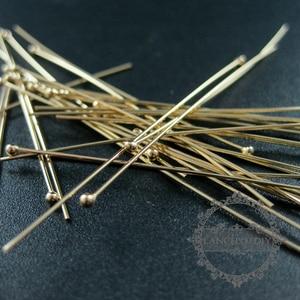 Image 3 - 24 Gauge 0.5X50.8 Mm Gold Filled Hoge Kwaliteit Kleur Niet Aangetast Ball Headpin Diy Kralen Sieraden Benodigdheden Bevindingen 1515012