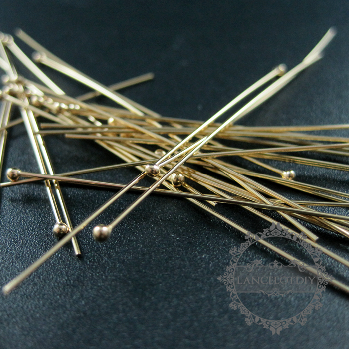 Image 3 - 24gauge 0.5x50.8mm gold filled high quality color not tarnished ball headpin DIY beading jewelry supplies findings 1515012ball headpinsjewelry suppliesjewelry findings -