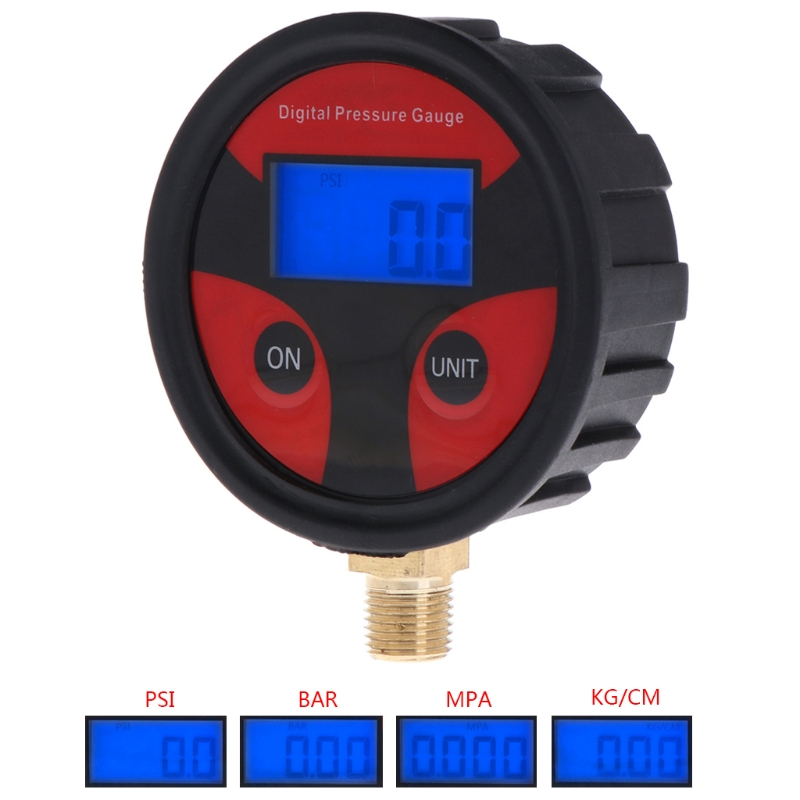 1pc battery power digital air pressure gauge gas pressure gauge tester tool 0 200psi np 60 g1 4 with vibration resistance 0-200PSI Digital Tyre Tire Air Pressure Gauge LCD Manometer Car Truck Motorbike LS'D Tool