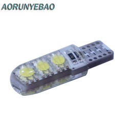AORUNYEBAO 20 штук супер яркий силиконовый Двустороннее освещение T10 W5W 194 168 6Smd 5050 светодио дный лампы 3 Вт 12 В Габаритные огни лампы