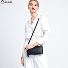 Fashion small leather bags women day clutches ZOOLER luxury woman shoulder messenger bag cross body Cow purse#Z183