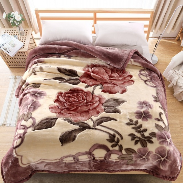 2017 New Winter Thicken Blankets For Beds/Car/sofa Furry Blanket Fleece  Plaid Bedspreads