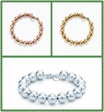 SHINETUNG 1:1 S925 Sterling Silver Original Brand TIFF High Quality Beads Trendy Bracelet Women Elegant Fine Charm Jewelry