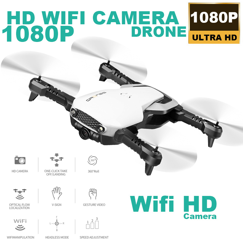 H2 WIFI FPV With 1080P HD Camera Optical Flow Foldable Arm RC Quadcopter Drone RTF VS XS809HW H37 E511-in RC Helicopters from Toys & Hobbies    1