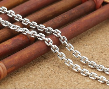 925 silver necklace 2.5mm chocker long necklacesilver chain
