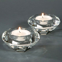 Free shipping by DHL/FEDEX/UPS k9 crystal candle holders, tealight candle holders for wedding centerpieces and decor