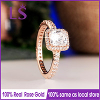 LS Hot Sale Rose G Old Timeless Elegance Ring Wedding Rings For Women Compatible With Original