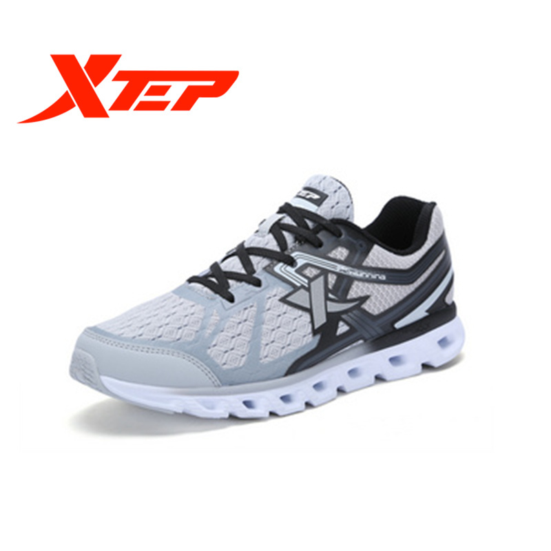 XTEP Men's Running Sport Outdoor Breathable Lightweight Air Sole Boots Shoes Sneakers For Men Free Shipping Cushion Thick Sole mulinsen men s running shoes blue black red gray outdoor running sport shoes breathable non slip sport sneakers 270235