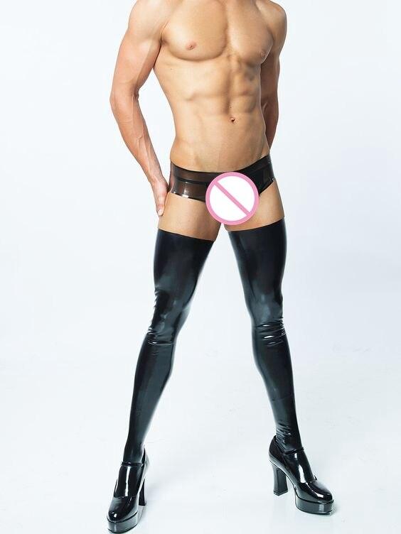 2017 Sexy men 's   socks   high elastic stocking men   socks   Spandex male stockings 2 colors   socks