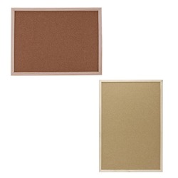 30x40 cm/40x60 centímetros Cork Board Prancheta Frame da Madeira do Pinheiro Branco Placas de Escritório Em Casa quadro de Cortiça decorativos